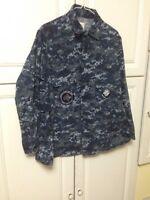 US NAVY DIGITAL CAMO BLUE XSmall Regular Shirt Blouse Maternity