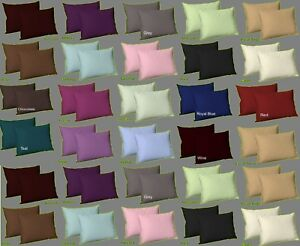 Top Quality Dyed Plain Polycotton Pillow Cases Room Decor Pair Of Pillow Cover