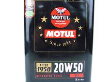 2liter MOTUL DE ÉPOCA Classic 20w50 ACEITE MOTOR 20w-50 OIL AB 1950