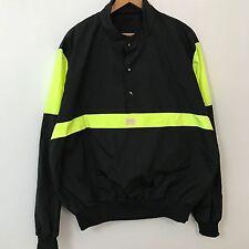 VTG 80s 90s CB Sports Neon Pullover Ski Jacket Mens SZ L Black Skate Hip Hop