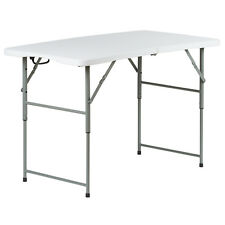 4FT FOLDING TABLE STALL MARKET/FETE/FAIR/ART/CAMPING/TRADESHOW FOLDAWAY CAR BOOT