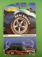 Hot Wheels Real Riders 1/64 Diecast Body & Chassis 1971 Plymouth Satellite BX38