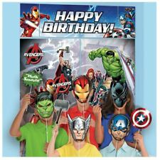 Avengers Birthday Party Wall Banner Decorating Kit w/ Photo Props