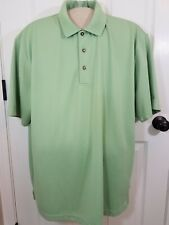 Grand Slam Mens Polo Shirt Golf Textured Stripes XXL Mint Green