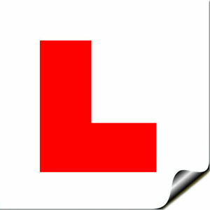 Self Adhesive Sticky L PLATE Motorcycle Motorbike Moper Car Learner Legal