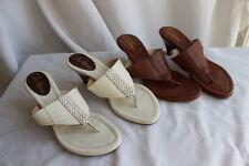 Lot of (2) Cole Haan Slide Sandal Thong Kitten Heel 6 1/2B