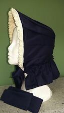 Clearance Save 40% Civil War Reenactment Dress Navy Blue Bonnet Was $165 Now $99