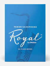 Rico Royal Bb Tenor Sax Reeds - 10-pack - Ideal For Beginners. Strength: 1.5