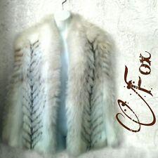Ladies Stunning Mid Length Authentic Fox Fur Coat Medium
