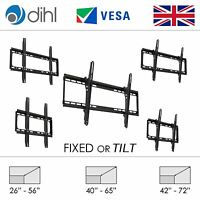 Tilt Fixed Wall TV Bracket Mount LCD LED Slim 26 32 40 42 46 48 50 55 60 65 70""