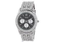 XOXO Women's XO5208 Black Dial Silver-tone Bracelet Watch