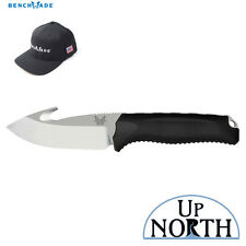 Benchmade HUNT 15009-BLK STEEP COUNTRY with HOOK Fixed Blade Knife FREE HAT