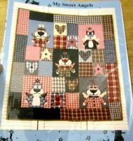 """MY SWEET ANGELS ALLEY & CAT TALES QUILT PATTERN 30 1/2"""" X 47""""THOSE STRAY CATS"""