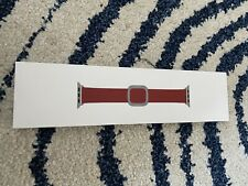 Genuine Apple 38mm/40mm Modern Buckle LEATHER Red