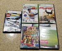 Lot Of 5 XBox 360 Games Lego Batman Kung Fu Panda Pure MLB