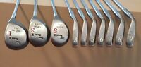 Tour Model II Red Dot Irons 3-pw & Woods 1,3,5-Regular Flex Steel-FREE SHIPPING