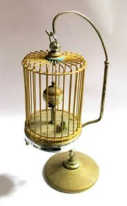 VINTAGE BIRDCAGE - AUTOMATION CLOCK W/ STAND - JAPAN (BC1)