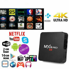 TV BOX ANDROID 8.1 IPTV 4K FULL HD 1080P 2GB 16GB RAM SMART DECODER WIFI MXQ PRO