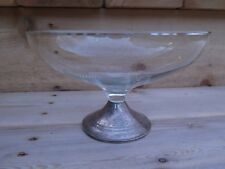 VIntage Duchin Creation Sterling Silver Weighted Glass Bowl Decorative Dish