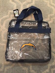 NFL Chargers Clear Game Day Bag