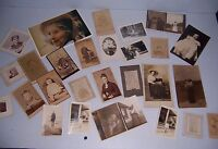 VINTAGE LOT OF 50 FAMILY BABY PHOTOGRAPHS SOME ANTIQUE SOME MODERN PICTURES