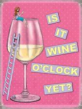 Is It Wine O'Clock Yet funny fridge magnet   (og)
