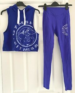 Gymshark, Royal Blue, Hoodie Top & Leggings, (Wearer is a UK8 normally a Size S)