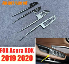 Carbon Fiber stainless Interior Door Armrest Cover Trims for Acura 2019 2020 RDX