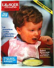 Le Soir illustré du 14/04/1988; Amédeo / Robert Mitterrand/ Joseph Hanse