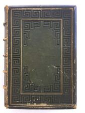 Antique Book A Gallery of Famous English & American Poets 1859 Green Cover