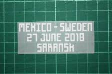 MEXICO World Cup 2018 Home Shirt Match Details MEXICO Vs SWEDEN