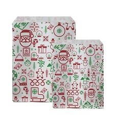 More details for iconic christmas characters paper counter bags, festive christmas party 2 sizes