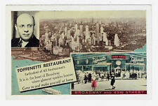 New York Toffenetti Restaurant 43rd Street at Broadway on Times Square