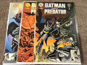 1991 DC & DARK HORSE Comics BATMAN VERSUS PREDATOR #1-3 Complete Series - NM/MT