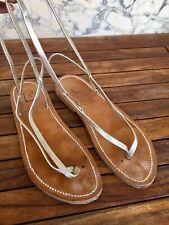 Superbe Sandales Cuir Doré K Jacques 39 Tbr