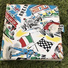 "Vintage 1960's 7"" Vinyl Records Storage Wallet - Motor Racing"