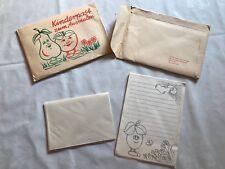 Kinder Briefpapier DDR 2mal, zum Ausmalen, Antik, Vintage