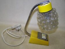 DDR Schreibtischlampe gelb Tischlampe mid century Space age  Kult Retro Lampe