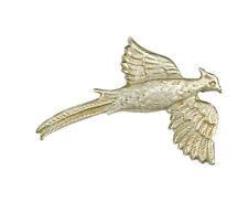 Bird Brooch Solid Silver Handmade