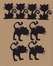 Cricut Die Cuts 8 Spooky Black Cat Die Cuts - Halloween Die Cuts Sizzix - QK