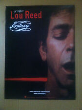 Velvet Underground Lou Reed 18 x 24 Usa Promo Poster for Ecstasy Cd