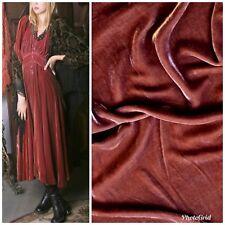 SALE! Designer Dusty Rose Mauve Silk Rayon Velvet Fabric By the yard