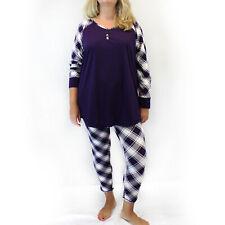Cacique by Lane Bryant Plus Purple Christmas Pajamas Size 22/24