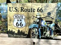 US Route 66 Mother Road Vintage Metal Tin Sign Wall Decor Garage Man Cave Home