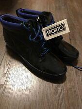 Sporto Boots Size 11 Black Rubber Blue Accents Thermolite