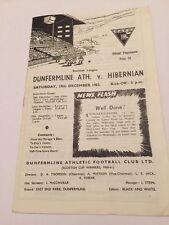 Written-on Scottish League Teams C-E Football Programmes