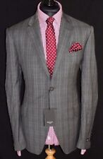 Wool Checked Classic Double Jacket Vents for Men