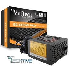 ALIMENTATORE ATX VULTECH 600W REALI PER PC tasto power ventola 12cm 600 watt