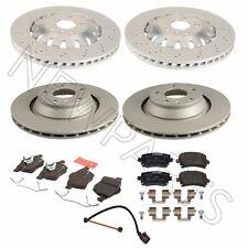 For Audi TT Quattro RS Front & Rear Brake Disc Rotors w/ Pads & Sensor OEM