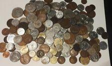 Collection de vieilles pièces certains Argent et britanniques dans le monde entier Job Lot Bundle